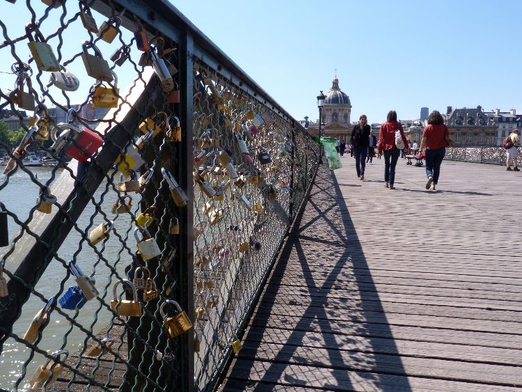 Pont des Arts, bridge of locks, Paris