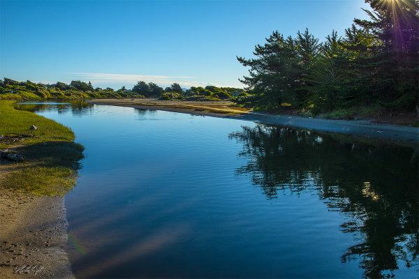 Waikawa River at Waikawa Beach