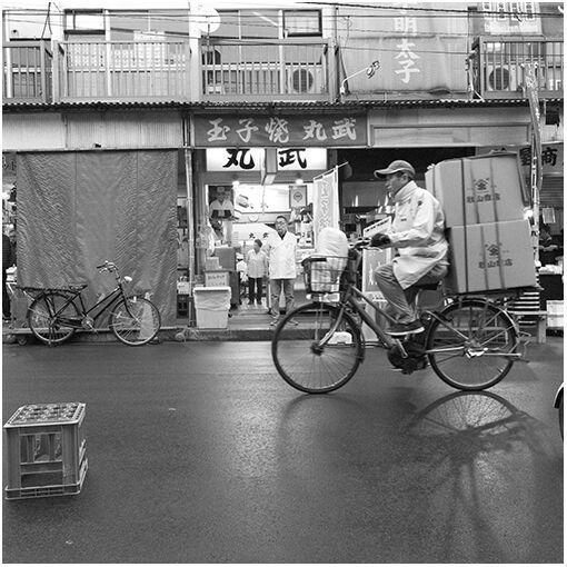 Cycling through Tsukiji