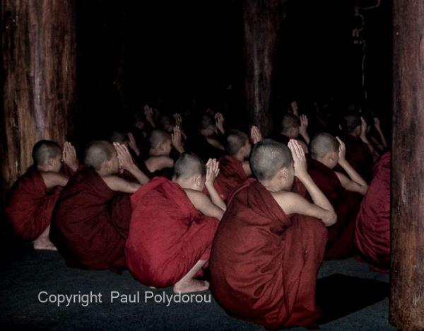 Evening meditation Mandalay