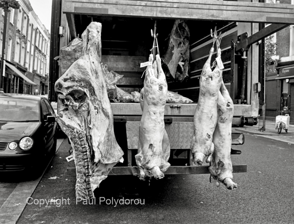 Meat wagon delivery, London