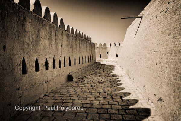 City wall rampart
