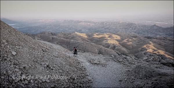 Descending Mount Nemrut