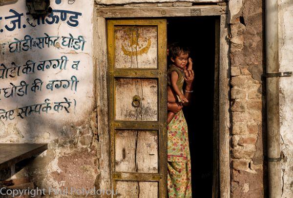 Doorway with child
