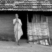 Blind tribal woman