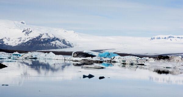 Blue ice of Jokulsarlon
