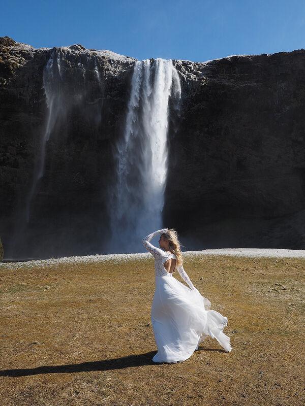 Skogafoss Bride