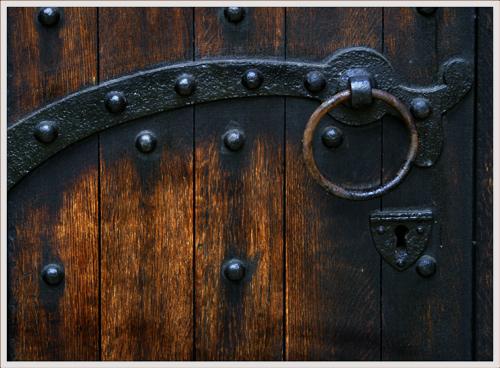 Detail Waltham Abbey Door