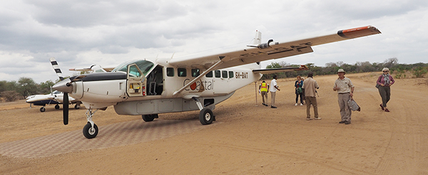 This is how we arrived at Selous Impala Camp