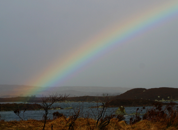 Rainbow Rannoch Moor