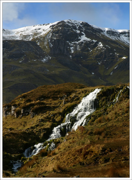 Waterfall and Cullins