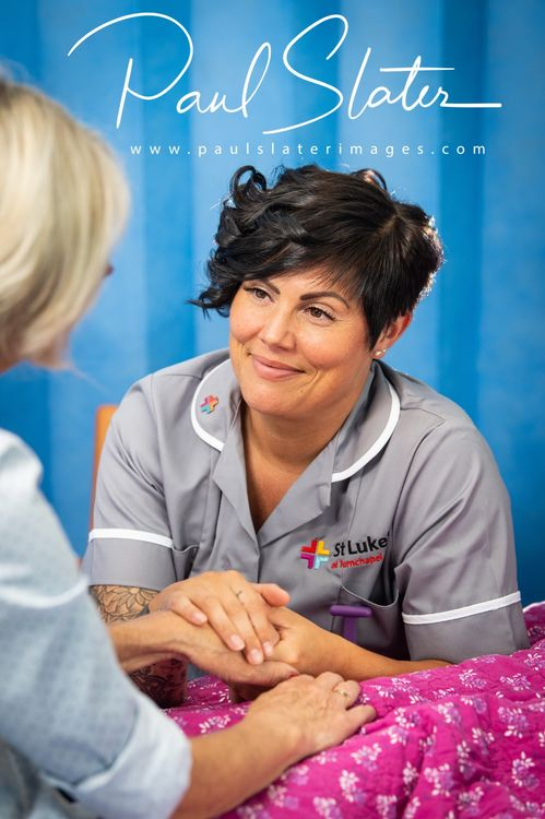 Marketing images for St Luke's Hospice Plymouth.