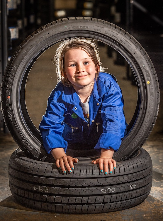 Mia who was given an opportunity to get work experience at a garage after being told she would never be able to do the job as a career.