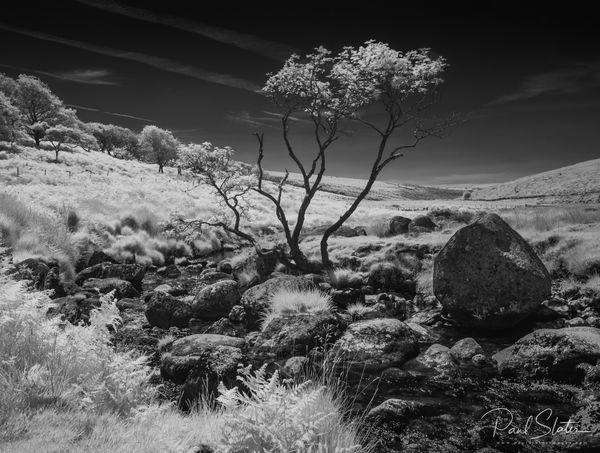 Black and White Dartmoor infrared landscape.