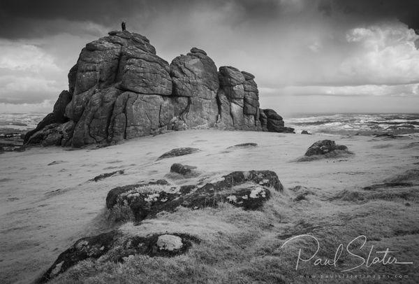 Black and White Dartmoor infrared landscape - Haytor