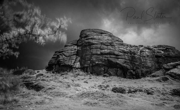 Black and White Dartmoor infrared landscape - Haytor