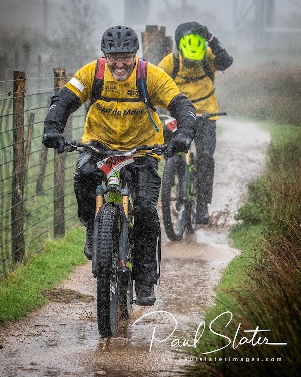 Tour de Moor event 2019 along with some very torrential rain.