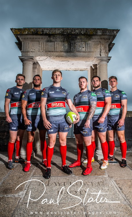 Plymouth Albion and the new away kit for the new season.