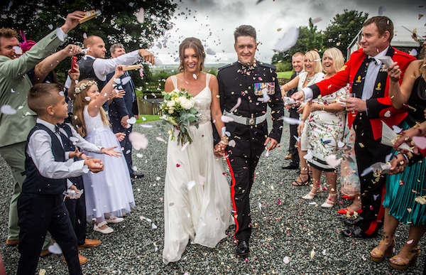Military Wedding, Cornwall.