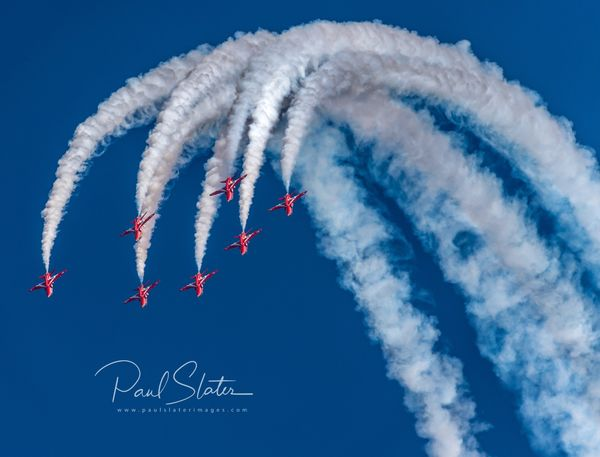 Red Arrows performing at the 2019 Plymouth Armed Forces Day