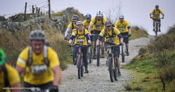 Action from the St Lukes Tour De Moor cycling event around Dartmoor National Park