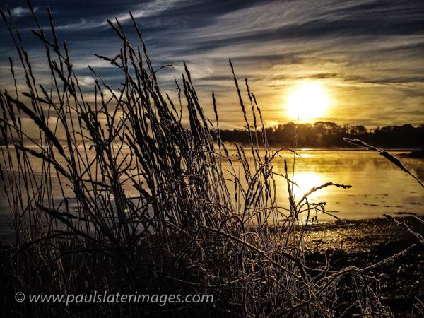 Winter sunrise, St Germans, Cornwall