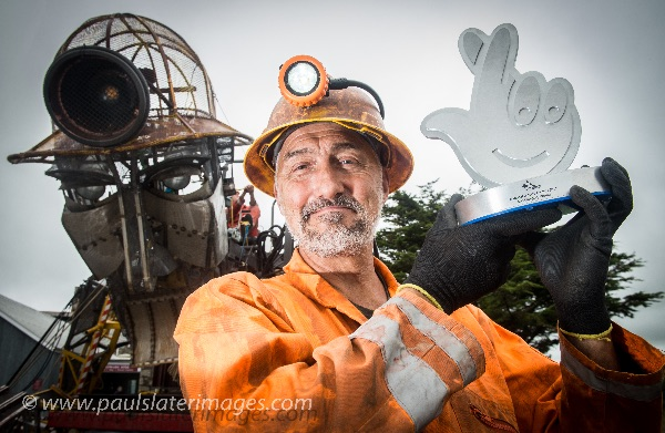 National Lottery Awards - Will Coleman the man behind the Man Engine (32ft tall mechanical miner)
