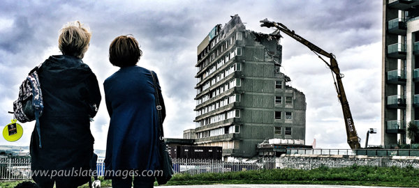Demolition of the Quality Hotel on Plymouth Hoe, Devon.