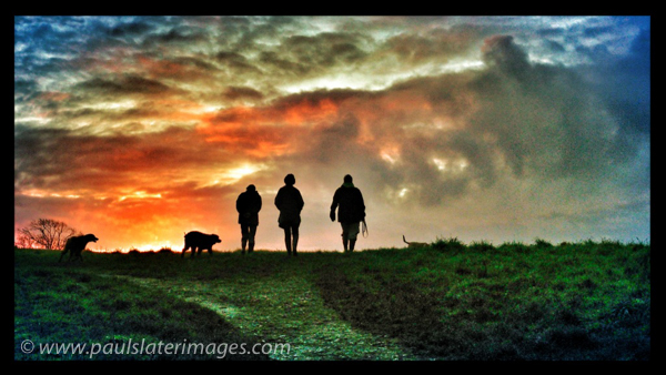 Early morning walkers, Saltash, Cornwall.