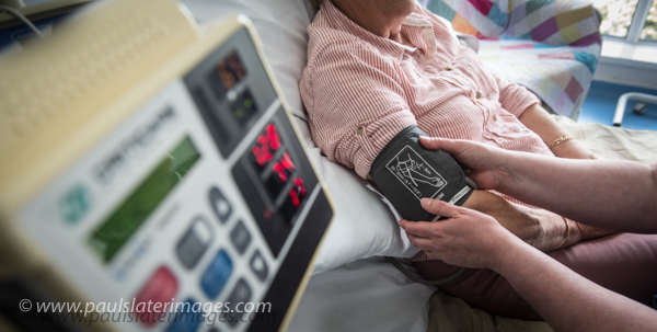 Medical related imager cancer patients being cared for at St Lukes Hospice, Plymouth.