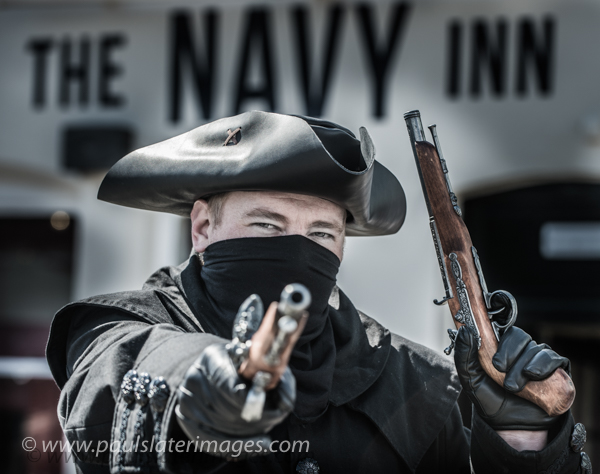 Pirate Weekend on the Barbican, Plymouth  - image for local press