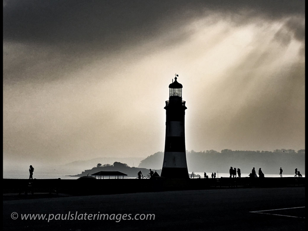 Smeaton's Tower Lighthouse , Plymouth Hoe, Devon.