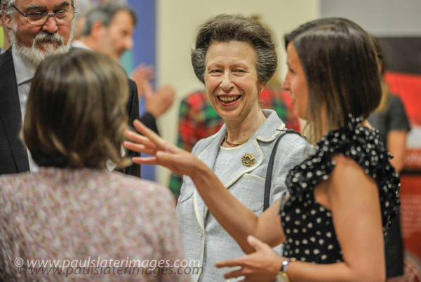 HRH Princess Anne pictured during her tour of the Plymouth Marine Laboratory .