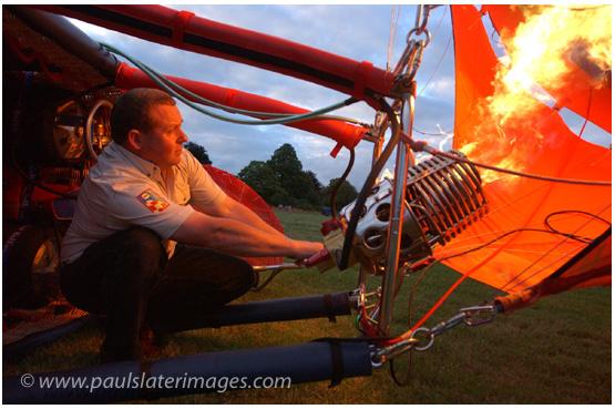 Balloon festival participant, Tavistock, Devon.