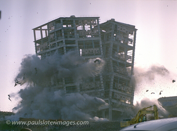 Demolition of the former cement works in Plymouth, Devon