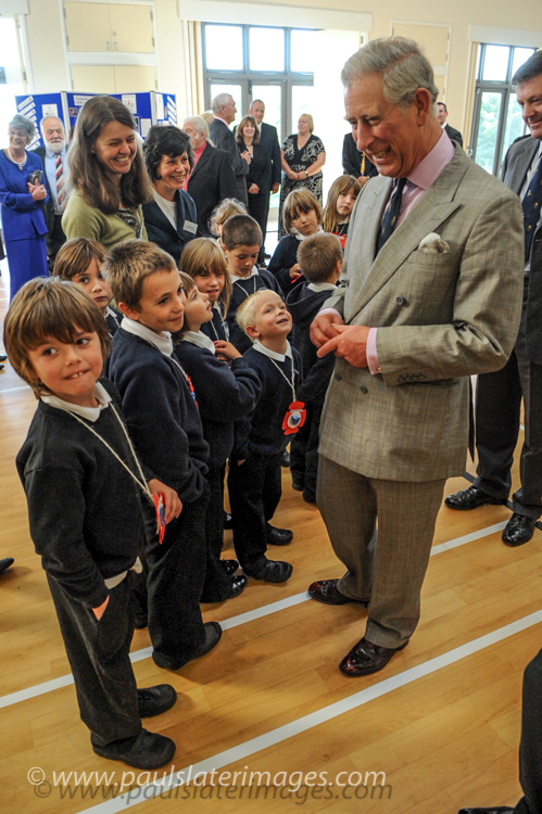 HRH Prince Charles during a visit to Princetown, Devon.