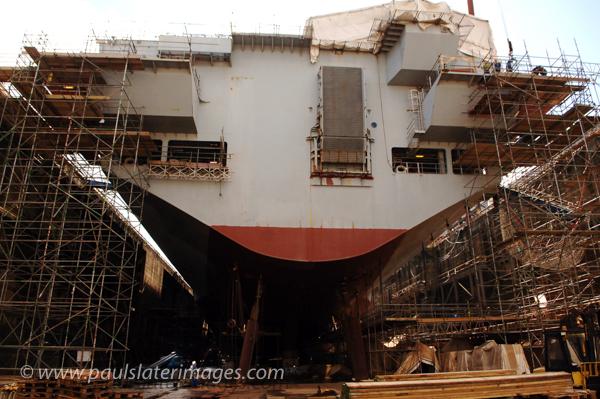 HMS Ocean Refit, Devonport Dockyard