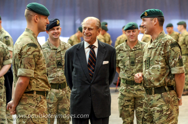 HRH Duke of Edinburgh during a visit to see the Royal Marines based in Plymouth, Devon.