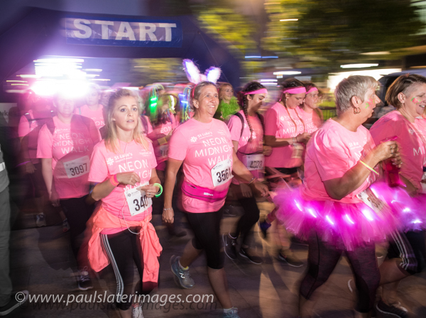 St Lukes Midnight Walk event in Plymouth City Centre