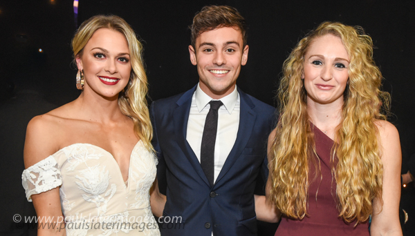 Plymouth Olympic Divers Tonia Couch, Tom Daley and Sarah Barrow. Pic by Paul Slater Images Limited.