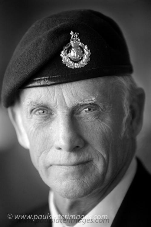 Portrait of Royal Marine Veteran