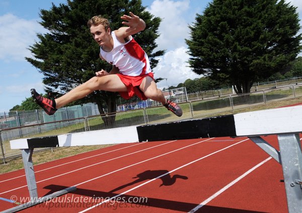 Athletics track action, Brickfields, Plymouth.