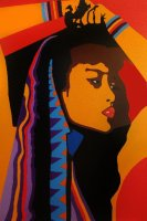 GIRL WITH SCARF AND BRACELETS 20X28ins Giclee print £165.00