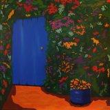 BLUE DOOR Acrylic on canvas 100X100cm £1,250