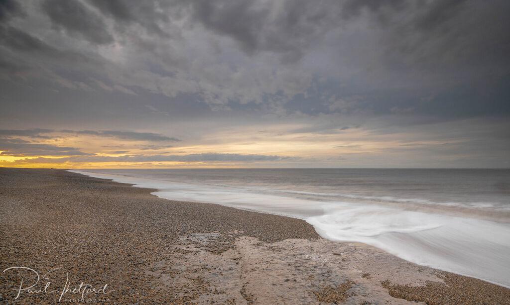 Last light Norfolk coast