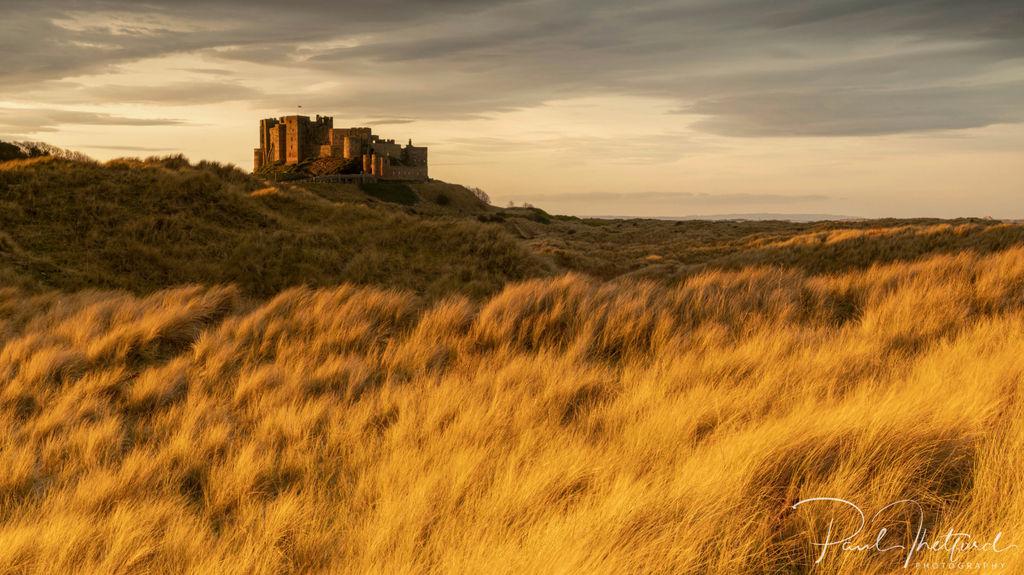 Bamburgh Castle last light