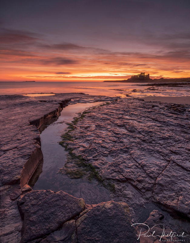 Bamburgh Castle Dawn light