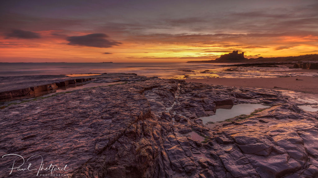 Bamburgh Castle Dawn light 3