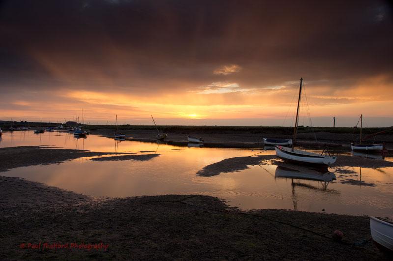 Sunset Burnham Overy Staithe