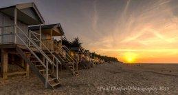 Wells beach as the sun sets